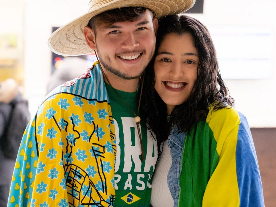 two students at Multi-cultural week